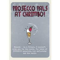 Prosecco Pals Christmas Card, Standard Size By Moonpig