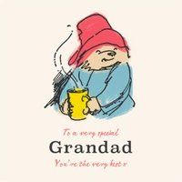 Paddington Bear Father's Day Card For Grandad, Large Square Size By Moonpig