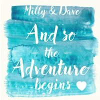 And So The Adventure Begins Personalised Wedding Day Card, Square Card Size By Moonpig