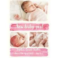 Paint A Picture New Baby Girl Photo Upload Postcard, Postcard Size By Moonpig