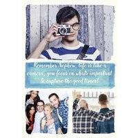 Photo Upload Watercolour Arty Birthday Card - To My Nephew, Standard Size By Moonpig