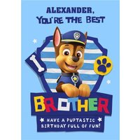Paw Patrol Birthday Card For Brother Have A Puptastic Birthday, Giant Size By Moonpig