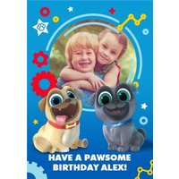 Puppy Dog Pals Photo Upload Birthday Card, Giant Size By Moonpig