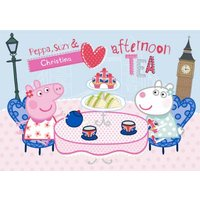 Peppa Pig Personalised Afternoon Tea Card, Large Size By Moonpig