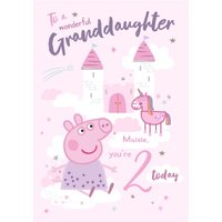Peppa Pig Wonderful Grandaughter 2 Today Birthday Card, Giant Size By Moonpig