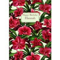 Happy Birthday Card - Tropical , Standard Size By Moonpig
