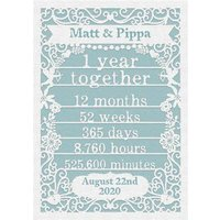 Paper Frames One Year Together First Anniversary Card