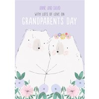 Bear Illustration Cute Grandparents Day Card, Large Size By Moonpig