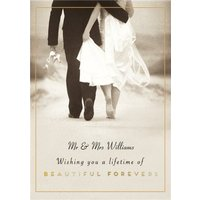 Pigment Lifetime Of Beautiful Forevers Photographic Wedding Card, Large Size By Moonpig