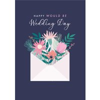 Flowers In Envelope Happy Would Be Wedding Day Postponed Card, Standard Size By Moonpig