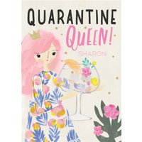Cute Quarentine Queen Card, Giant Size By Moonpig