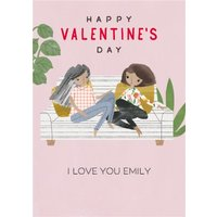 Pigment Hey Girl Character I Love You Valentines Day Card, Giant Size By Moonpig
