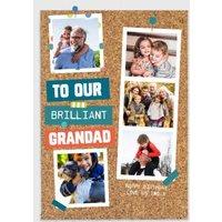 Pinboard Happy Birthday - Photo Upload Card Brilliant Grandad, Giant Size By Moonpig