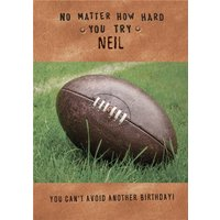 Funny Birthday Card - You Can't Avoid Another Birthday, Giant Size By Moonpig