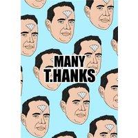Illustration Many T Hanks Thankyou Card, Giant Size By Moonpig