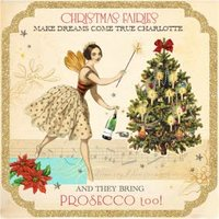 Christmas Fairies Bring Prosecco Personalised Card, Square Card Size By Moonpig