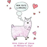 Love You Lots Llama Personalised Mother's Day Card, Standard Size By Moonpig