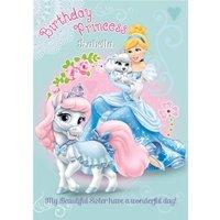 Disney Cinderella Personalised Birthday Princess Card, Giant Size By Moonpig
