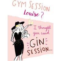 Birthday Card - Gym Gin Glamorous Fashion, Standard Size By Moonpig