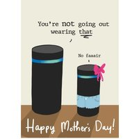 Mother's Day Card - Alexa Artificial Intelligence, Large Size By Moonpig