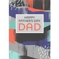Super Colourful Happy Fathers Day Card, Giant Size By Moonpig