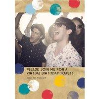 Proper Paper Photo Upload Virtual Birthday Invitation Card, Standard Size By Moonpig