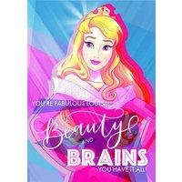 Disney Sleeping Beauty Princess Aurora And Brains Card, Standard Size By Moonpig