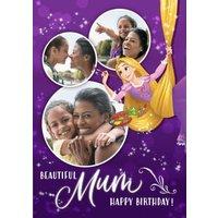 Disney Tangled Beautiful Mum Birthday Photo Upload Card , Large Size By Moonpig