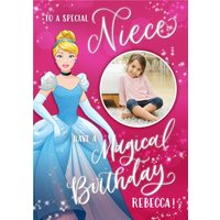 Disney Cinderella Special Niece Birthday Photo Card, Large Size By Moonpig