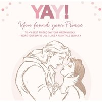 Disney Beauty And The Beast Wedding Card For Best Friend , Large Square Size By Moonpig