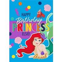 Disney Ariel Happy Birthday Princess Card, Giant Size By Moonpig