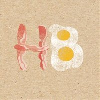 H8 Eggs And Bacon Personalised Greetings Card, Large Square Card Size By Moonpig