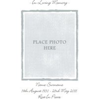 Grey And White Personalised Photo Upload With Sympathy Card, Standard Size By Moonpig