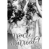 Wedding Card - Photo Upload You're Married, Large Size By Moonpig