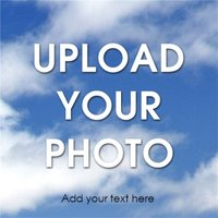 Full Width Upload Your Photo And Text Card, Square Card Size By Moonpig