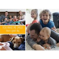 You Make Me Smile Photo Birthday Card, Standard Size By Moonpig