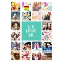 Multiple Photo Birthday Card, Standard Size By Moonpig