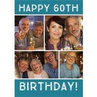 60th Birthday Card - Use Your Own Photos To Create Personalised Cards, Giant Size By Moonpig