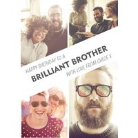 Brilliant Brother 4 Photo Upload Card