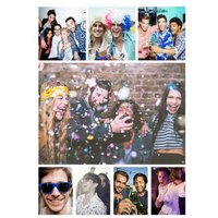 8 Photo Upload Personalised Friend Card, Giant Size By Moonpig