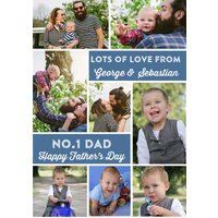 No1 Dad - Photo Customised Father's Day Card, Standard Size By Moonpig