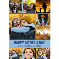 Photo Collage Father's Day Card, Standard Size By Moonpig