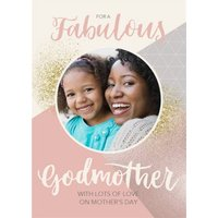 Mother's Day Card - Godmother Photo Upload Card, Large Size By Moonpig