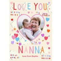 Mother's Day Card - Love You Nanna Photo Upload, Standard Size By Moonpig