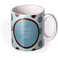 Baby Boy Spotty Photo Upload Mug by Moonpig, Gift Set - Delivery Available