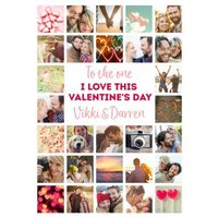 To The One I Love Valentine's Day Multi Photo Upload Card