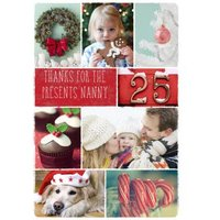 Personalised Text And MultiPhoto Christmas Card, Large Size By Moonpig