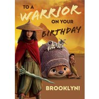Raya And The Last Dragon To A Warrior On Your Birthday Card, Giant Size By Moonpig