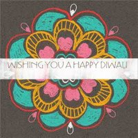 Wishing You A Happy Diwali, Large Square Card Size By Moonpig