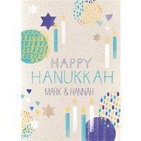 Personalised Hanukkah Card, Standard Size By Moonpig